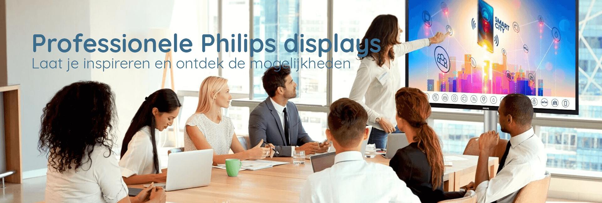 Professionele Philips displays (nieuws)