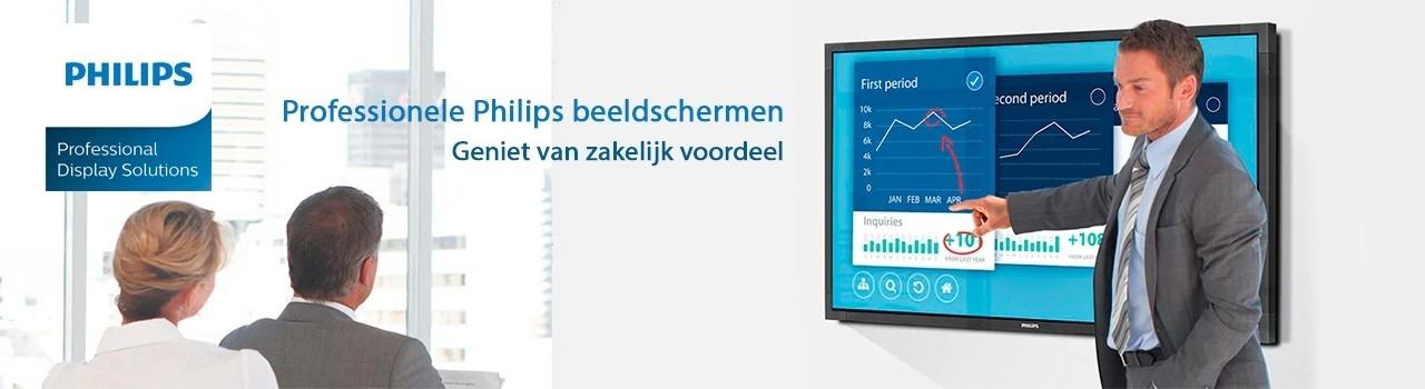 Professionele Philips beeldschermen